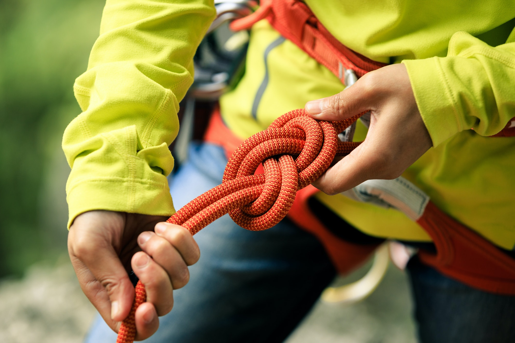 Rope knot for climbing